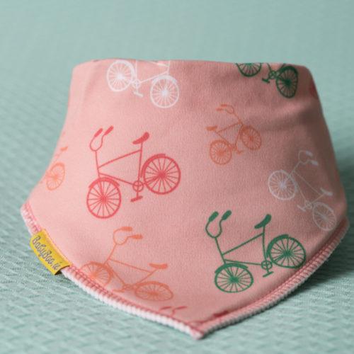 Peach bicycles bandana bib