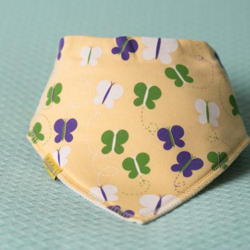 Lemon butterflies bandana bib