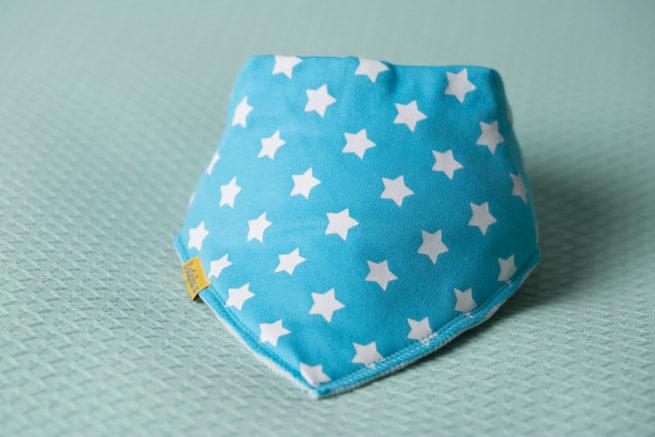Turquoise stars bandana bib