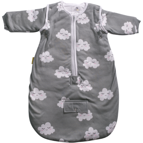 Sleepy clouds organic cotton SnuggleBoo sleeping bag (2.5 tog)