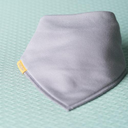 Just grey organic cotton DribbleBoo bandana bib