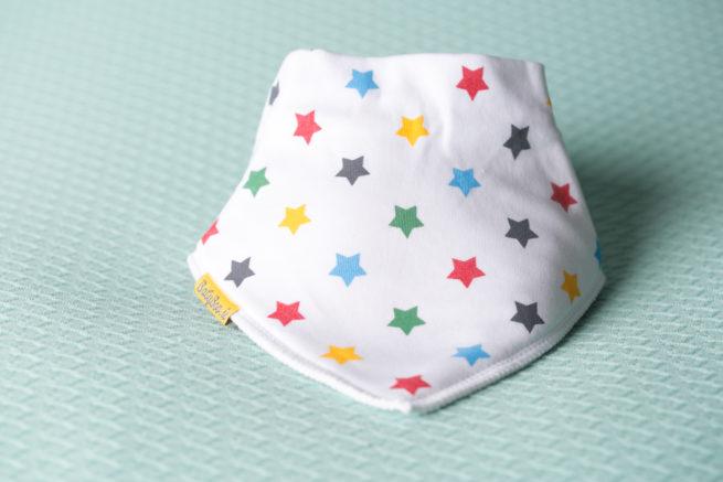 Bright stars organic cotton DribbleBoo bandana bib