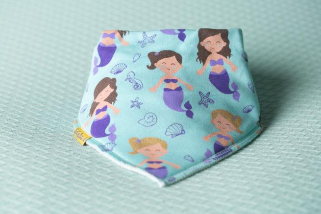Aqua mermaids organic cotton DribbleBoo bandana bib