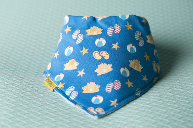 Beach theme bandana bib