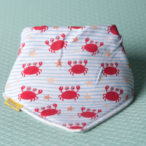 Cutey crabs organic cotton DribbleBoo bandana bib