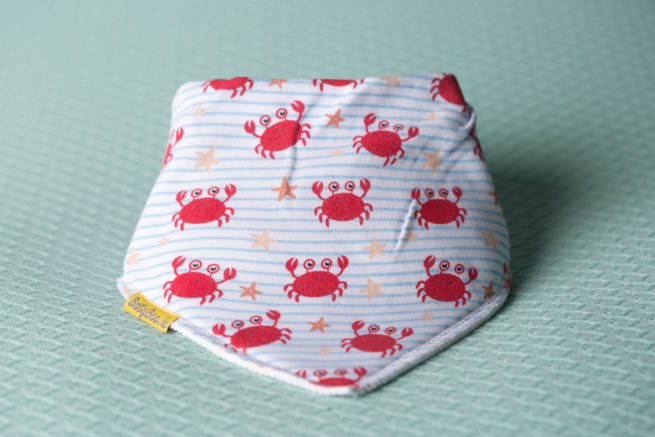 Cutey crabs organic cotton DribbleBoo bandana bib