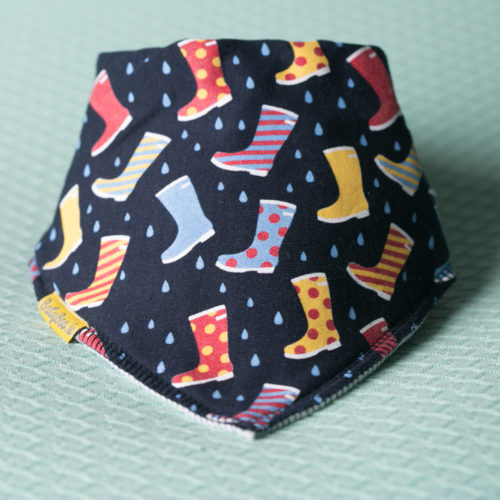 We love wellies organic cotton DribbleBoo bandana bib