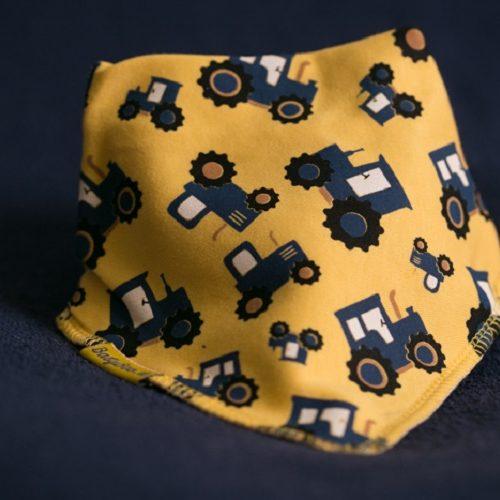 Yellow Tractors dribbleboo bandana bib
