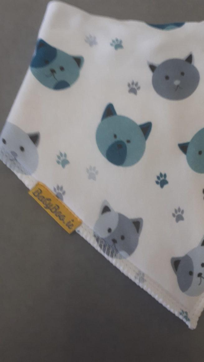 Crazy cats dribbleboo bandana bib