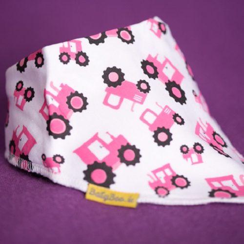 Pink tractors dribbleboo bandana bib