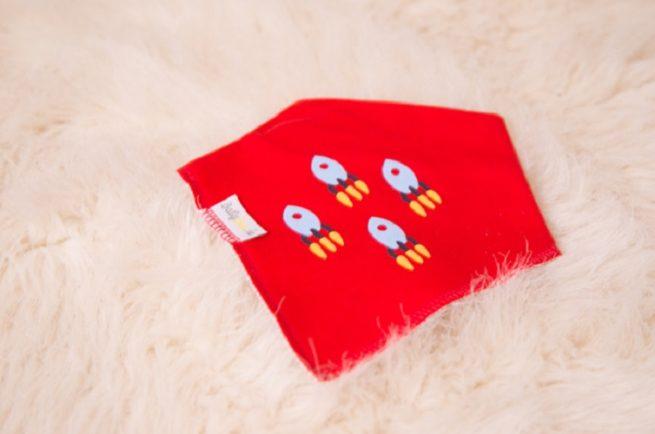 Red rockets dribbleboo bandana bib