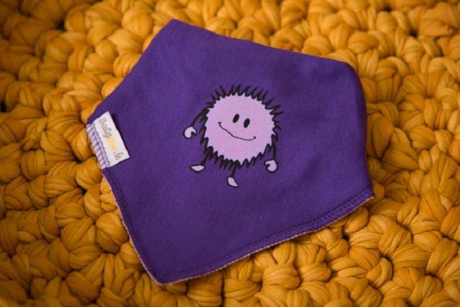 Purple monster dribbleboo bandana bib