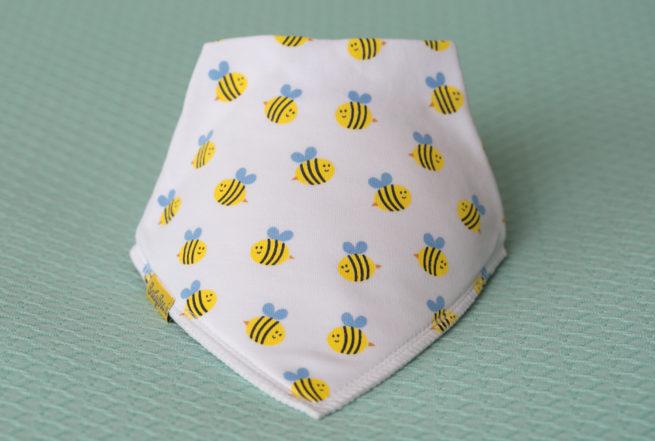 Buzzy bees organic cotton bandana bib