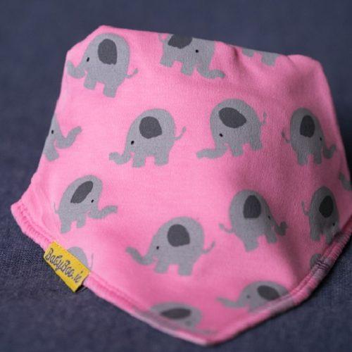 Pink ellie dribbleboo bandana bib