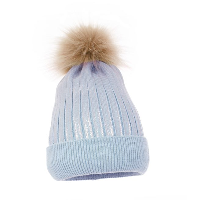 Luxury children's pom hat