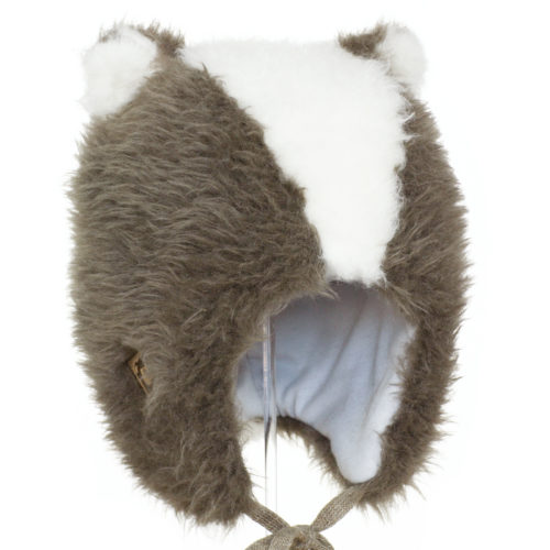 Grey badger wool hat