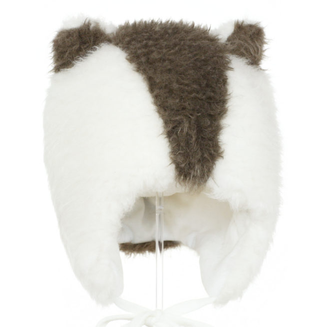Cream badger wool hat