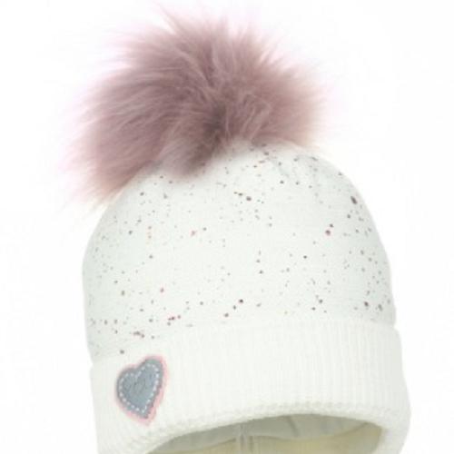 Luxury children's pom hat