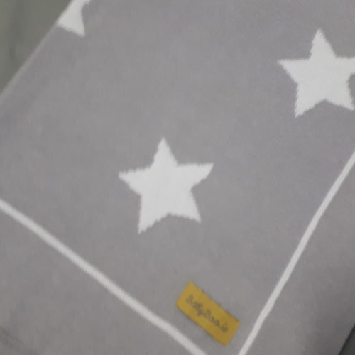 light grey stars blanket