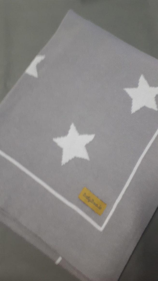 light grey stars blanket