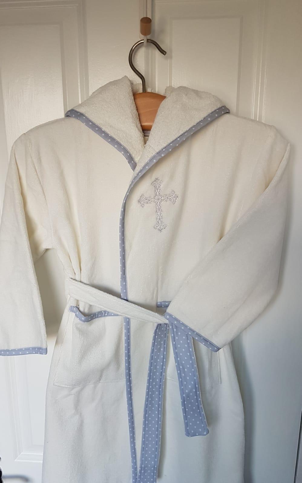 Communion White Organic Cotton Cozyboo Robe Babyboo Ie